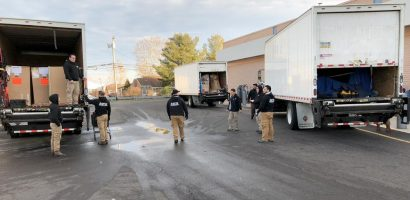 image of trucks delivering new equipment to Four Seasons Fitness