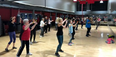 image of seniors getting fit with Zumba Gold at Four Seasons Fitness