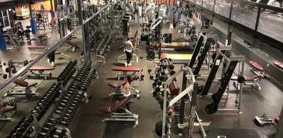 image of the largest of 3 workout rooms in our Glassboro Gym.