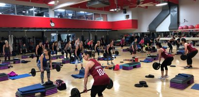 image of our previous Body Pump 104 launch at Four Seasons Fitness in Glassboro, NJ