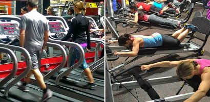 image of Target Zone members working out using Treadmills and Total Gyms